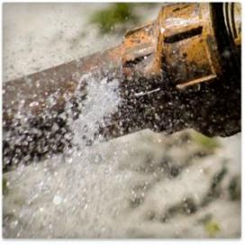 water bursting from a broken pipe need to be taken care of immediately by a licensed Brea plumber