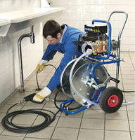 a service tech can always clear your clog with a hydrojet